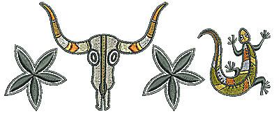 Embroidery Design: Southwestern border 3 6.39w X 2.61h