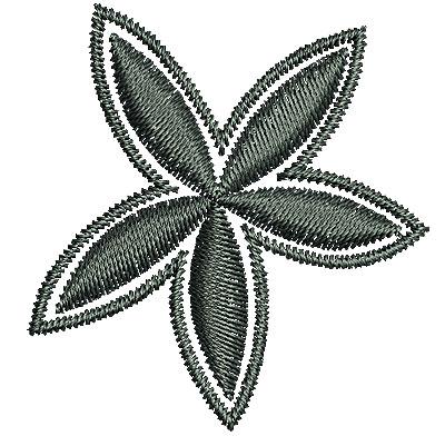 Embroidery Design: Southwestern flower 1 1.50w X 1.59h