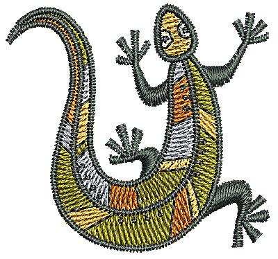 Embroidery Design: Southwestern gecko 1.75w X 1.65h