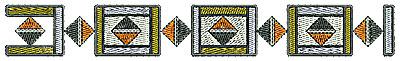 Embroidery Design: Southwestern border 4 6.77w X 0.89h