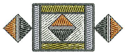 Embroidery Design: Southwestern design 5 2.20w X 0.89h