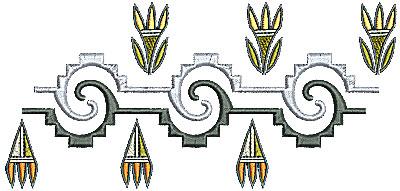 Embroidery Design: Southwestern border design 3 6.77w X 3.20h