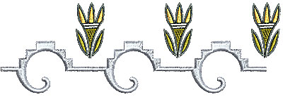 Embroidery Design: Southwestern border design 4 6.27w X 2.04h