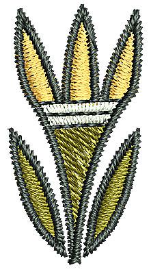 Embroidery Design: Southwestern flower 2 0.64w X 1.24h