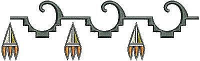 Embroidery Design: Southwestern border design 5 6.24w X 1.86h