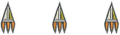 Embroidery Design: Southwestern design border 2 4.55w X 1.19h