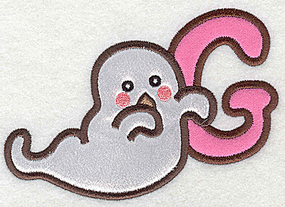 Embroidery Design: G ghost small double applique 3.89w X 2.77h