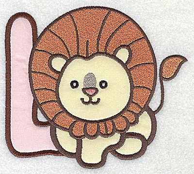 Embroidery Design: L lion large double applique 4.97w X 4.46h