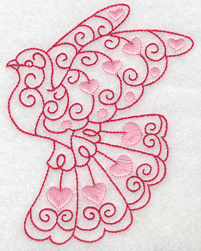 Embroidery Design: Love bird 1 large 3.85w X 4.97h