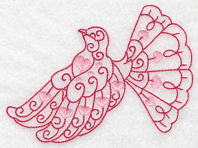 Embroidery Design: Love bird 2 large 4.99w X 3.85h