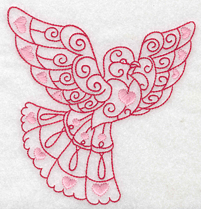 Embroidery Design: Love bird 3 large4.83w X 4.96h