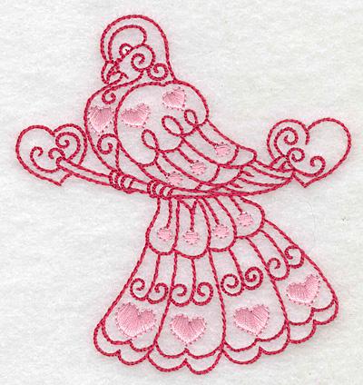 Embroidery Design: Love bird 4 small 3.60w X 3.85h