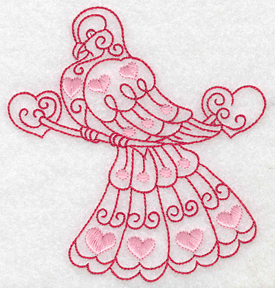 Embroidery Design: Love bird 4 large 4.63w X 4.97h