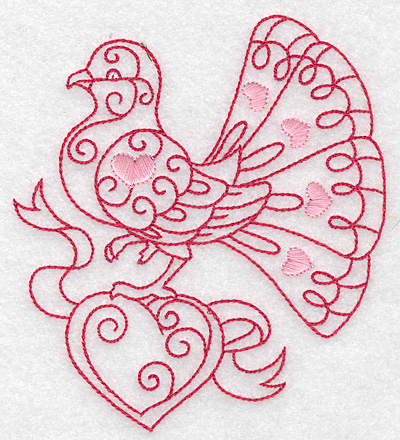 Embroidery Design: Love bird 5 large 4.91w X 4.96h