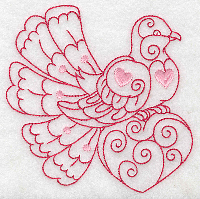 Embroidery Design: Love bird 6 large 4.43w X 4.96h