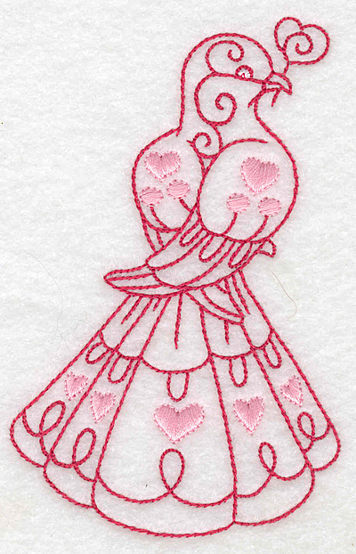 Embroidery Design: Love bird 7 large 3.15w X 4.96h