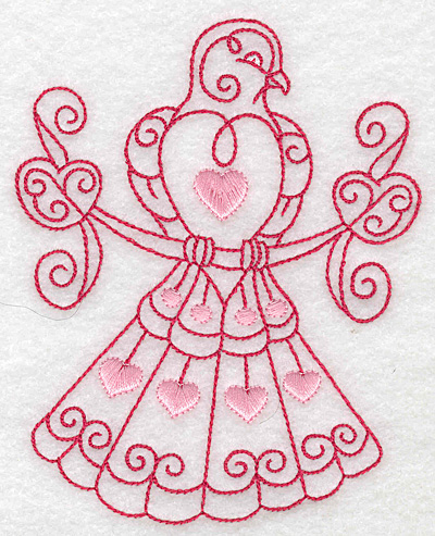 Embroidery Design: Love bird 8 large 3.95w X 4.96h