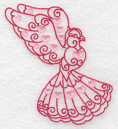 Embroidery Design: Love bird 10 small 3.24w X 3.85h