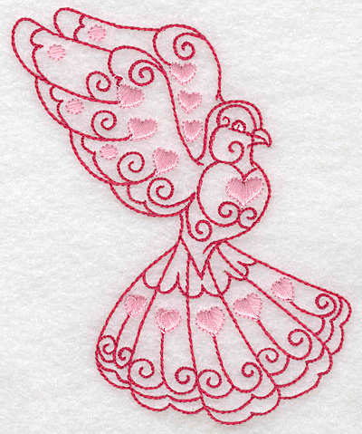 Embroidery Design: Love bird 10 large 4.18w X 4.96h