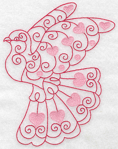 Embroidery Design: Love bird 1 jumbo 5.41w X 6.97h