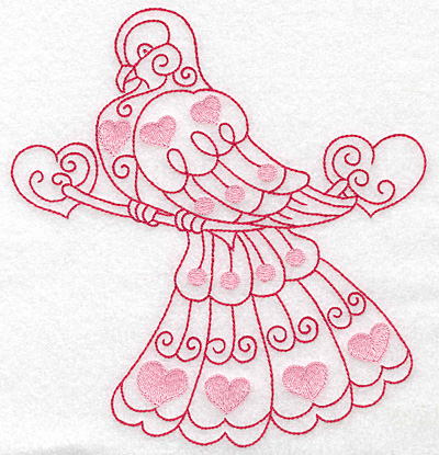 Embroidery Design: Love bird 4 jumbo 6.51w X 6.99h