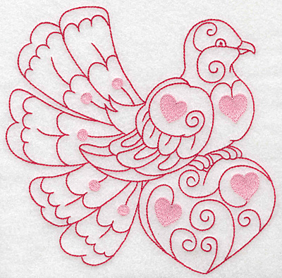 Embroidery Design: Love bird 5 jumbo 6.92w X 6.99h
