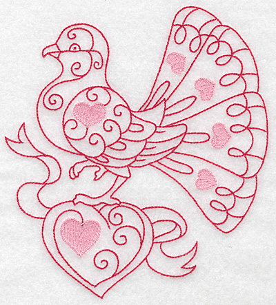 Embroidery Design: Love bird 6 jumbo 6.25w X 6.99h