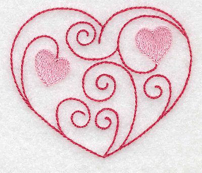 Embroidery Design: Heart of hearts 3.01w X 2.53h