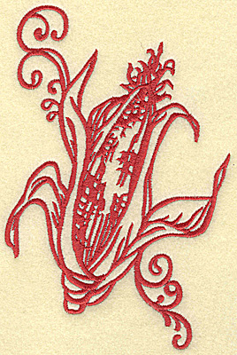 Embroidery Design: Ear of corn large 4.60w X 6.97h