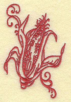 Embroidery Design: Ear of corn small 2.56w X 3.86h