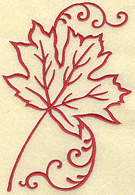 Embroidery Design: Maple leaf large 4.75w X 6.97h