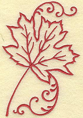 Embroidery Design: Maple leaf medium 3.39w X 4.98h