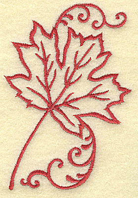 Embroidery Design: Maple leaf small 2.60w X 3.78h