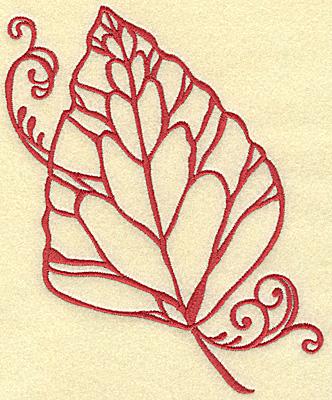 Embroidery Design: Leaf large 5.75w X 6.96h