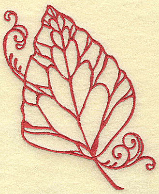 Embroidery Design: Leaf medium 4.11w X 4.98h