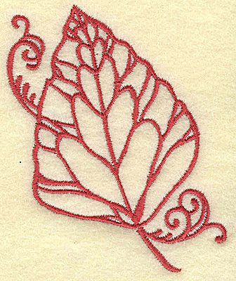 Embroidery Design: Leaf small 2.89w X 3.51h
