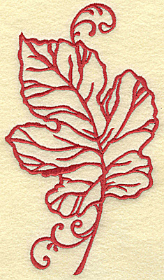 Embroidery Design: Oak leaf large 3.97w X 6.94h