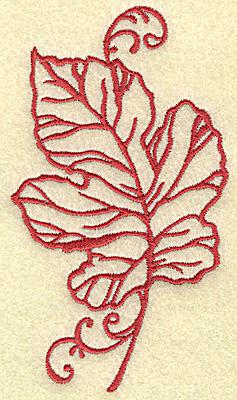 Embroidery Design: Oak leaf medium 2.84w X 4.96h