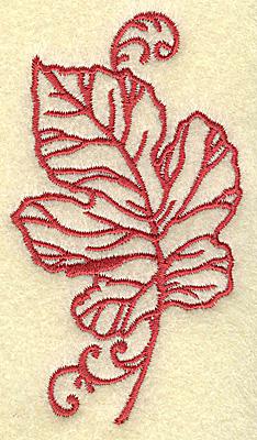 Embroidery Design: Oak leaf small 2.20w X 3.81h
