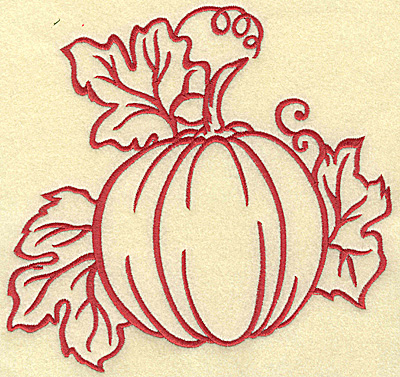 Embroidery Design: Pumpkin large 7.36w X 6.99h