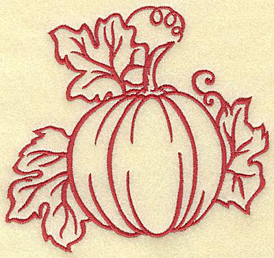 Embroidery Design: Pumpkin medium 5.26 X 4.99h
