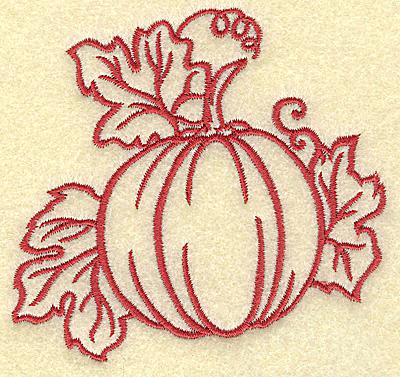 Embroidery Design: Pumpkin small 3.78w X 3.58h
