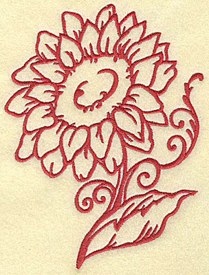 Embroidery Design: Sunflower large 5.16w X 6.97h
