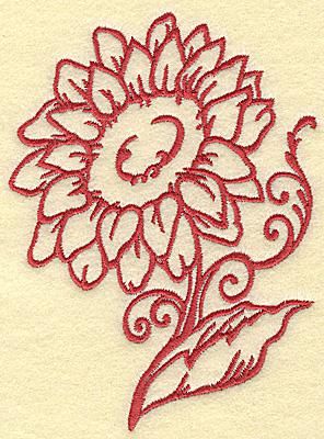 Embroidery Design: Sunflower medium 3.69w X 4.98h