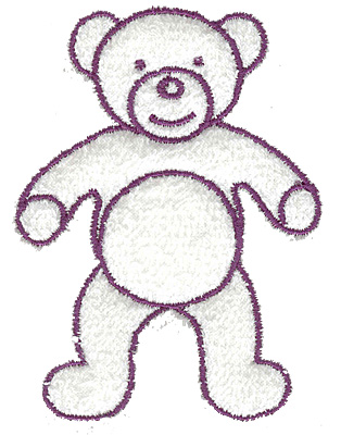 Embroidery Design: Teddy bear outline large 2.81w X 3.82h