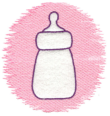 Embroidery Design: Trapunto baby bottle large 4.76w X 4.97h