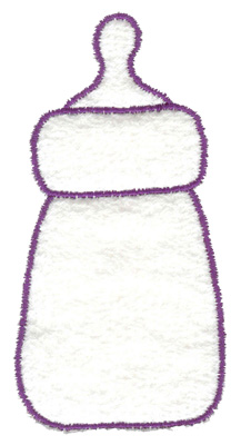 Embroidery Design: Baby bottle outline large 2.03w X 4.01h