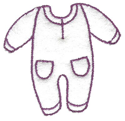 Embroidery Design: Infant sleeper outline large  3.39w X 3.18h