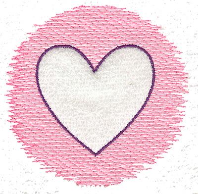 Embroidery Design: Trapunto heart small 3.89w X 3.70h