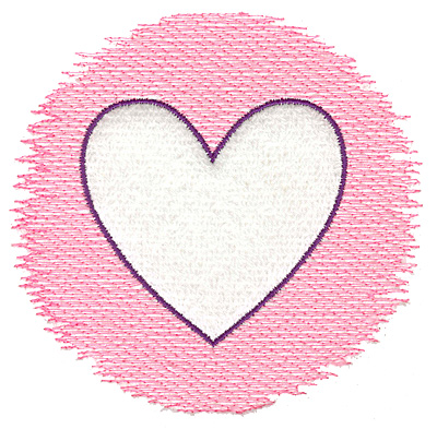 Embroidery Design: Trapunto heart large 4.98w X 4.74h